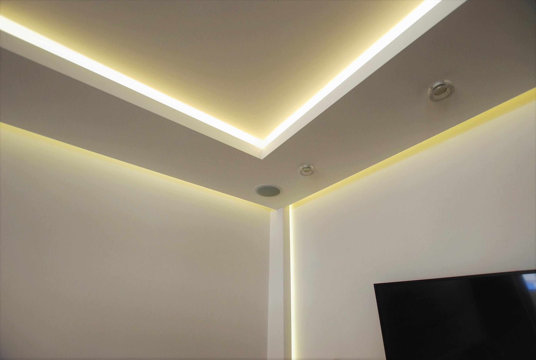 salon oświetlenie i kino domowe